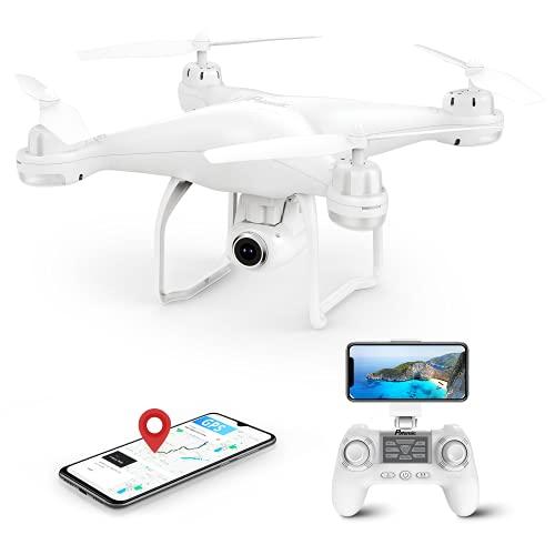 Potensic Drone GPS Telecamera 1080P, Drone Professionale T25 Dual GPS, Drone con la Telecamera Grandangolare Regolabile Camera HD WiFi FPV Quadricottero, Droni Funzione Seguimi Modalità Senza Testa