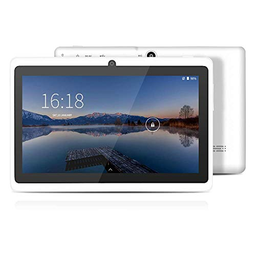 YUNTAB Tablet 7 Pulgadas Android ,Procesador Quad-Core 1.5GHz,1GB de RAM, 8GB de ROM,WiFi,Bluetooth,Doble Camara,Google Play,OTG(Blanco)