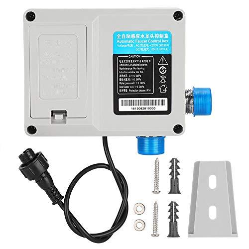 Smart Sensor Faucet tipo de batería caja de control piezas de recambio de ahorro de energía sanitario práctico automático grifo accesorios gris
