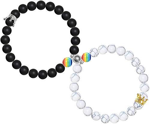 1Par Magnéticas LGBT Pulseras para Parejas Gay Lesbiana Bisexual Pulseras...