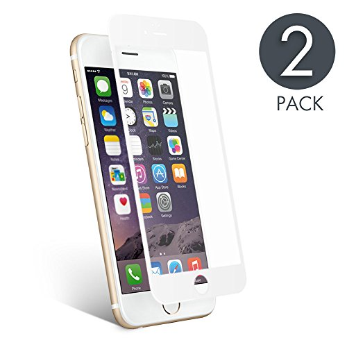 aiMaKE Protector de Pantalla Compatible con iPhone 6 Plus/6s Plus,3D Pantalla Completa Cristal Templado Pantalla Protectora Anti BLU Ray,Cubre la Pantalla Completa para iPhone 6 Plus/6s Plus Blanco