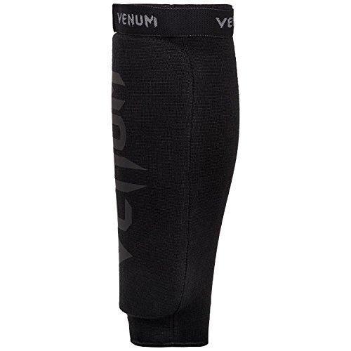Venum Kontact Shinguards - without Foot - Black/Black, One Size