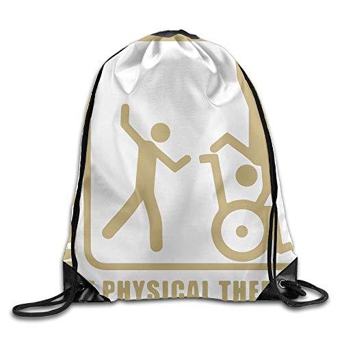 Kein Wunder, nur Physiotherapie Unisex Home Gym Sack Bag Reise Kordelzug Rucksack Tasche