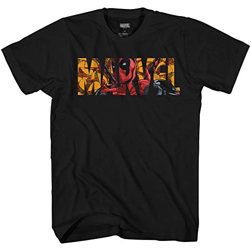 Deadpool Taco Logo Funny Humor Pun Avengers X-Men Dead Pool Graphic Men's Adult T-Shirt Tee Apparel (Black, Small)