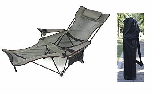 CNBPLS Sillas De Camping, Tela Plegable Reclinable, Portátil con Taza De Taza Desmontable Y Transporte Silla De Playa,D