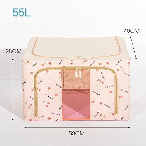 Boîte de rangement en acier de grande taille Boîte de rangement Oxford en tissu d'habillement peut être plié pour recevoir Boîte de fer Me (couleur : N ° 5)