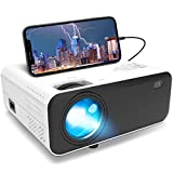 Mini Movie Projector Supported 1080P - Portable Full HD Projector Native 720P with 5500 Lumens LED Lamp,Compatible with HDMI,VGA,USB,AV,Laptop,Smartphone