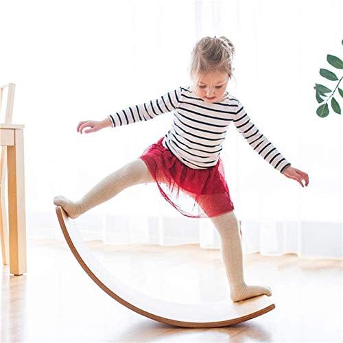 LXNQG Tabla de Equilibrio de Madera para niños, Tablero de Madera Columpio Curvado, Tablero de bamboleo Apto para niños, 100KG (Color : Green)