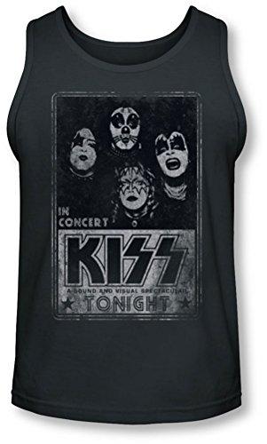 Kiss - - Live Tank-Top pour hommes, Large, Charcoal