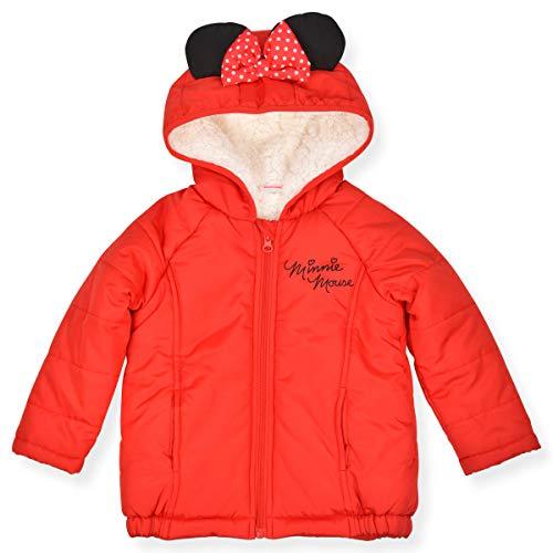 Disney Minnie Mouse - Chaqueta con capucha para niña con orejas y lazo - Rojo - 6X