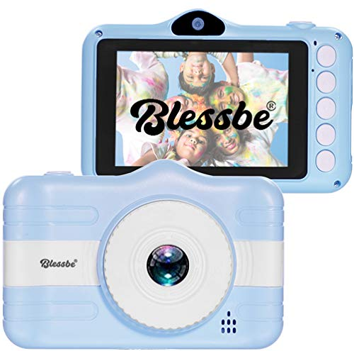 Blessbe Kids Digital Camera, Selfie Camera, Child Video Recorder Camera Full HD 1080P Handy Portable Camera 3.5 Inch Screen, with Inbuilt Games for Kids (Blue) - BB18