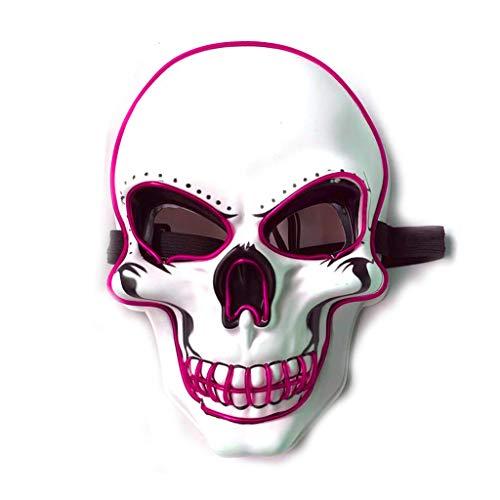 RORORO Escudo de caveira da morte assustadora para Halloween unissex