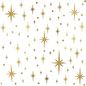Easma Sparkle Decals Star Decals, Nursery Wall Decal, Kids Room Decor, Star Wall Decor, Sparkle Wall Art, Baby Room Star Wall Sticker Peel&Stick Removable Decals