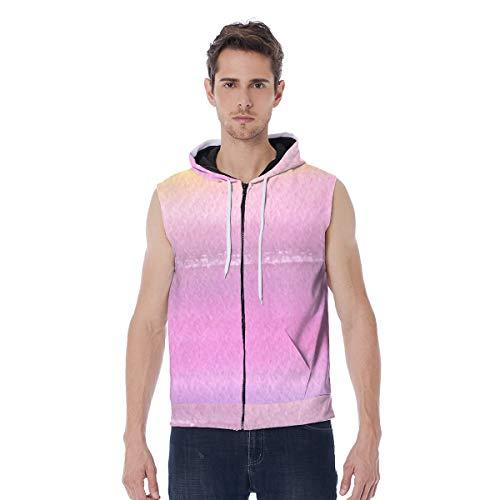 T-ara tendencia líder Cantidad cremallera completa con capucha for hombres Chaqueta inútil de todo rosa, rosa, estampado, suéter, suéter, dimensionamiento, con bolsillo Super comodo