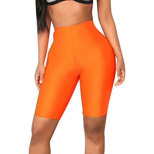Yesmile Damen Leggings Fitness Kurze Hosen Fahrrad Yoga Pants Hohe Taille Atmungsaktive Sportbekleidung für Yoga, Fitness, Zuhause oder...