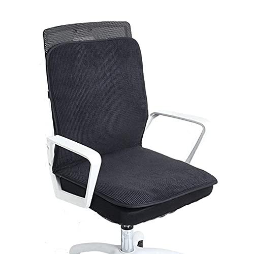 TDMYCS Beheizte Sitzpolster für Bürostuhl Hüften und Rückensynchronheizung mit intelligentem Temperaturregler und 3 Temperatureinstellungen Automatisches Ausschalten (Color : B)