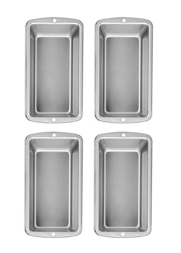 Wilton non-stick 8.5x4.5 Stainless Steel Non-Stick Med Loaf Pan - Set 4