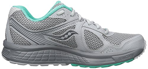 Saucony Women's Cohesion TR10 Running-Shoes, Grey Mint, 8.5 Medium US