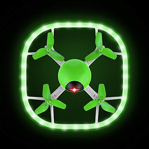 Potensic Drone U51 Luminoso con Telecomando Funzione di Senza Testa e Un Tasto di Decollo e Atterraggio Facile da Usare Adatti per Principianti