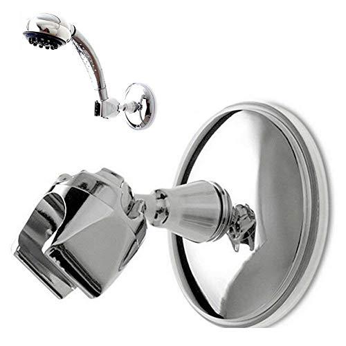 Demarkt–360° giratorio Ducha cabeza Soporte Ventosa Soporte de ducha para alcachofa para ducha de mano Mano brauseh Projector de ABS Aspiradora Diámetro de unos 9cm