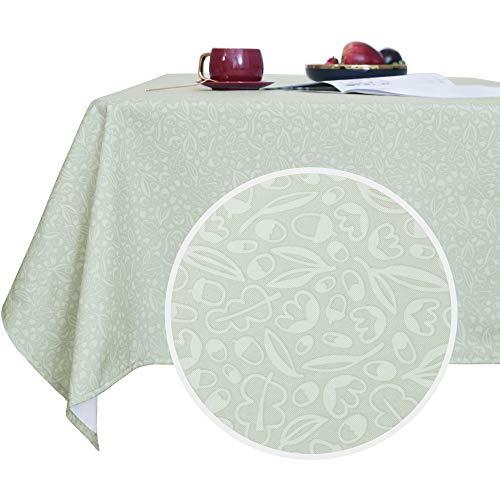 Deconovo waterbestendig en afwasbaar tafelkleed met bladerpatroon