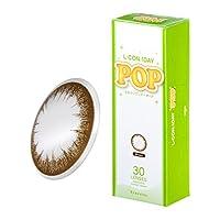 エルコンワンデーポップ 30枚×4箱【 ブラウン PWR:-5.25】度あり カラコン L-CON 1day POP