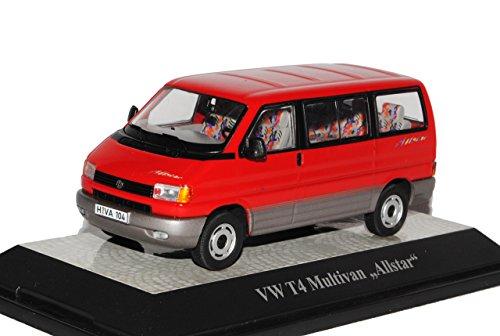Premium ClassiXXs Volkwagen T4 Multivan Allstar Transporter Personen Rot 1990-2003 1/43 Modell Auto mit individiuellem Wunschkennzeichen