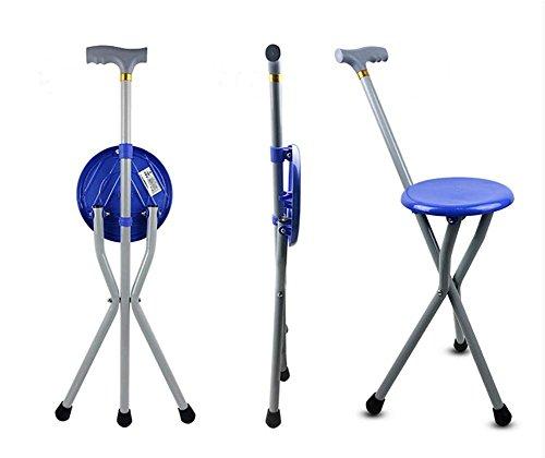 Bastón con asiento plegable,Silla plegable portable del taburete del campo del asiento del palillo del bastón del recorrido