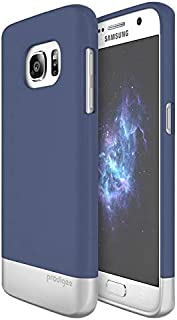 cover for Galaxy S7 Accent Navy Blue Silver