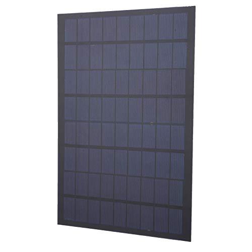 Panel solar de polisilicio 18v 9w + 30cm Agujero redondo Dc Plug-280x190 Panel solar a prueba de nieve Panel solar Tamaño compacto 0.08 pulgadas de espesor para luces solares de paisaje