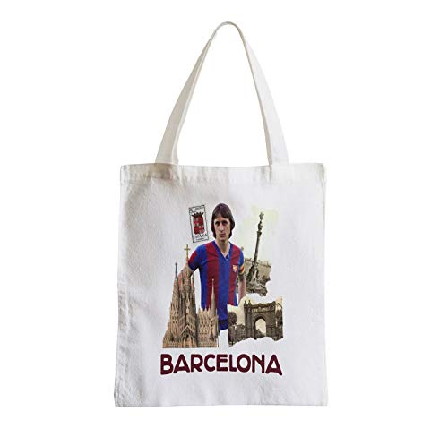 Große Tasche Sack Strand Schüler Barcelona Vintage Collage Stadt Postkarte FC Barcelona
