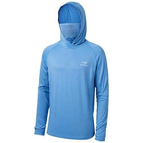 Bassdash UPF 50+ - Camisa de pesca de manga larga con máscara UV cuello polaina sudadera con capucha - - XX-Large