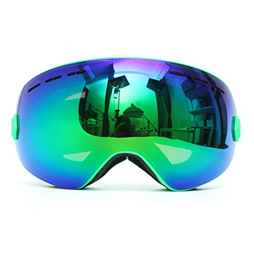Forspero snowboard skibril twee lenzen motorfiets UV-bescherming anti-mist groen