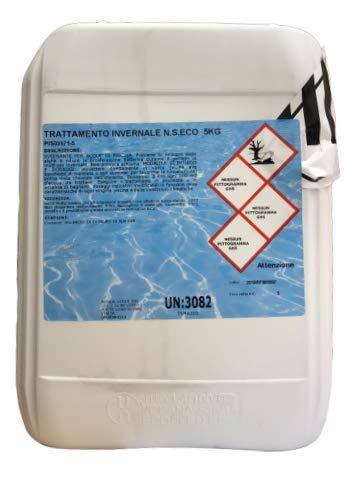 Brenntag Svernante Liquido antigelo Piscina 5 kg Trattamento Invernale Mantenimento Acqua