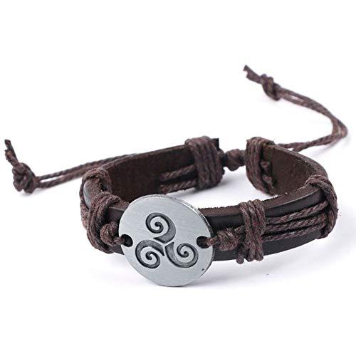 tailor13me Mode Armband, Vintage Spiral Triskele Runde Design Kette Armband Armreif Schmuck Weihnachten Geburtstagsgeschenk Für Frauen Mädchen