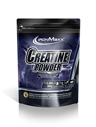 IronMaxx Creatine Monohydrat-Pulver - 300g - 60 Portionen - Vegan - Beliebt bei Kraft-Sportlern, Athleten & Bodybuildern - sehr gute Löslichkeit - Designed in Germany