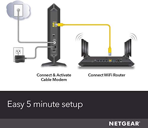 Netgear cable modem cm600 - compatible with cable providers including xfinity by comcast, spectrum, cox | for cable… 6 compatible with comcast xfinity, time warner cable, charter, cox, cablevision, and more. Requires cable internet service not compatible with: verizon, at&t, or centurylink cable modem only (no wifi router). Memory: 8 mb nor flash and 128 mb ram