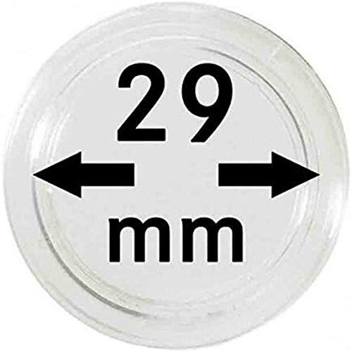 Lindner Münzkapseln für Münzen Ø 14 - 50 mm. Zur Wahl per 1, 5, 10, 100 Stück (29 mm - per 10)