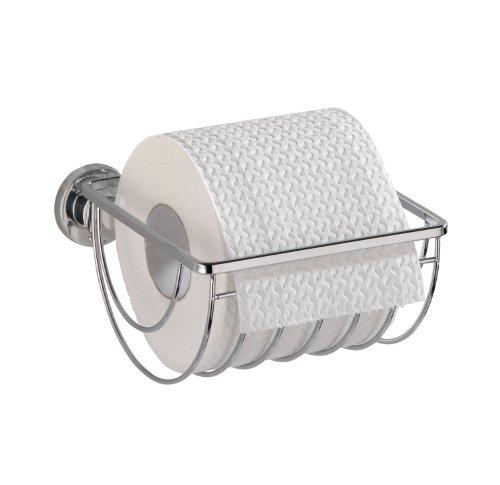 Wenko 17799100 Power-Loc WC-Rollenhalter Bovino - Befestigen ohne bohren, Easy Hang On, Edelstahl rostfrei, 14 x 7.5 x 15 cm, Glänzend