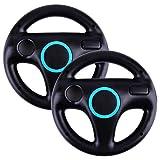 BEIARA Mario Kart Racing Wheel Compatible with Nintendo Wii - 2Sets (Black)