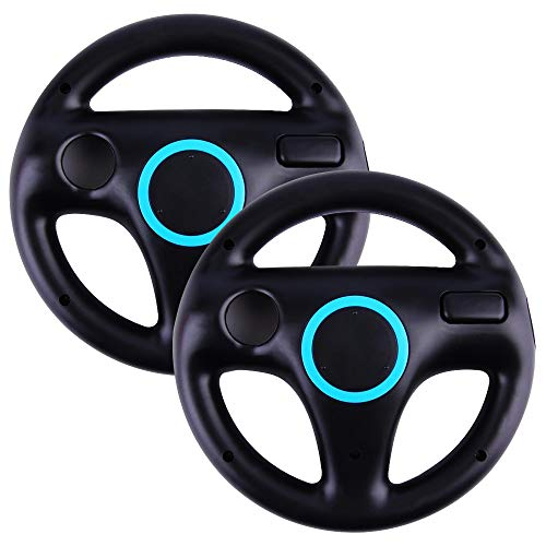 Top Souls Mario Kart Racing Wheel for Nintendo Wii  1 Pack Original Black