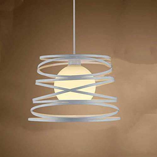 Creativo Lámpara de Techo Moderno Lámpara Colgante Metal Forma de Primavera para Comedor Restaurante Sala de estar Dormitorio (Blanco)