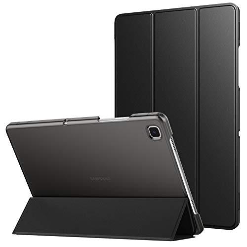 MoKo Custodia Protettiva Compatibile con Samsung Galaxy Tab A7 10.4' 2020 SM-T500/T505/T507, Retro Rigido Ultra Sottile Leggero, Custodia in Tre-Ante, Avvio/Arresto Automatico, Nero