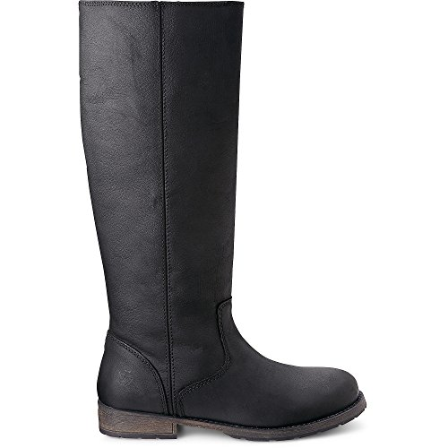 Apple of Eden Damen Stiefel Aretha Schwarz Leder 39