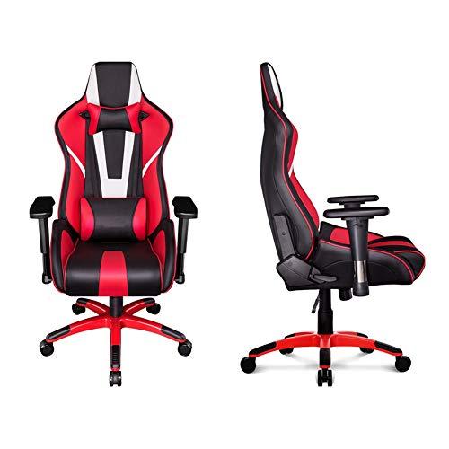 Silla de videojuegos ajustable respaldo alto silla de oficina, silla ergonómica de apoyo cintura atlética de ascenso, reposabrazos de aleación de aluminio