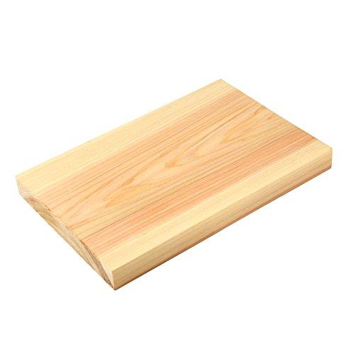 Hinoki tagliere in legno per cucinare (30cm x 20cm x 3cm, made in Japan)