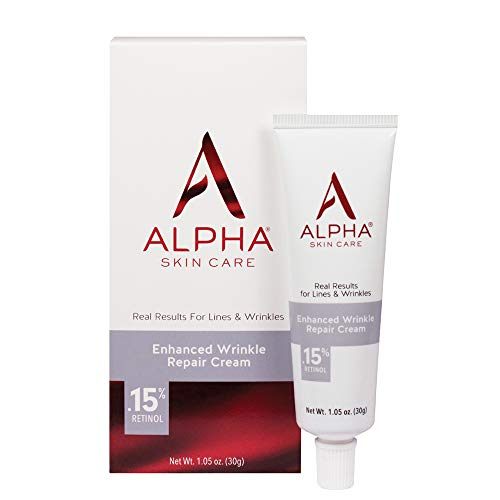 Alpha Skin Care Enhanced Wrinkle Repair Cream | Anti-Aging Formula | 0.15% Retinol | Vitamin A, C & E | Reduces the Appearance of Lines & Wrinkles |For All Skin Types | 1.05 Oz
