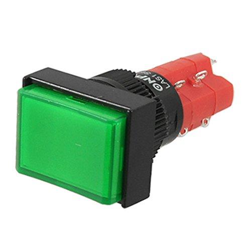 Aexit AC 220V Contacto eléctrico de cierre automático Interruptor de botón pulsador...