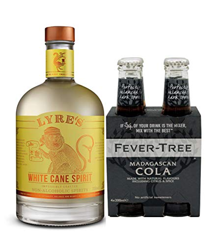 Lyre's Rum & Cola Set - Lyre's White Cane Non-Alcoholic Spirit (White Rum Style) | Award Winning | 23.7 Fl Oz (with 1 Pack of 4 x 200ml Fever-Tree Madagascan Cola)