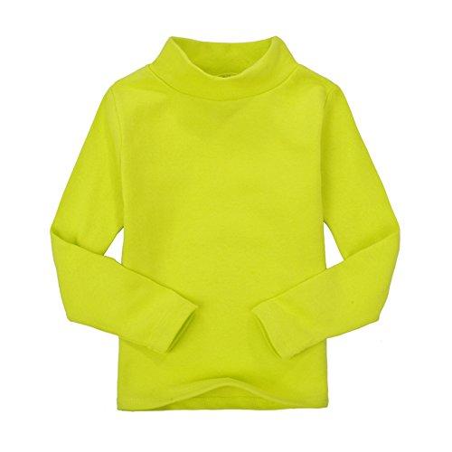 CuteOn Niños para niños | Cuello Alto | De Manga Larga | algodón | De Camisetas, Tops, tee Shirt Limón Verde 4 Años